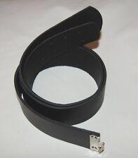 Koppelriemen schwarz für 2 Dorn Kastenschloß,Gürtel Koppel Lederkoppel 90 -130cm