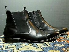 Men's MEZLAN Black Calf Leather Side Zip Chelsea Boot Sz. 10.5 EXCELLENT!