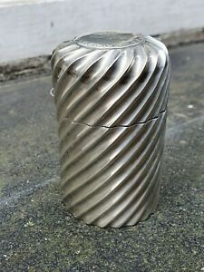 ANTIQUE SOLID SILVER STERLING 925 BIRMINGHAM 1891 DESK TRINKET PILL POT JAR BOX