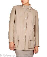 AQUASCUTUM Ladies Camel (Beige) 100% SILK Jacket Coat BNWT Uk8 USA4 Ita40