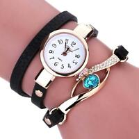 Fashion Women Quartz Ladies Stainless Steel Crystal Diamond Bracelet Wrist Watch