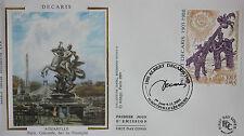 ENVELOPPE PREMIER JOUR - 9 x 16,5 cm - ANNEE 2001 - DECARIS