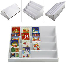 2X4 Tiers White Collapsibles Cardboard Greeting Card Display Stand Counter Stand