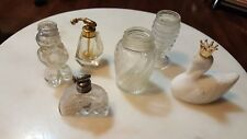 Various Glass Perfume Bottles and Shakers - Avon Swan Airko Holland Man Japan
