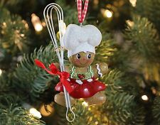 Gingerbread Chef Girl with Whisk Christmas Tree Ornament