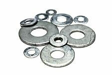 "1/4"" SAE Flat Washers - Hot Dip Galvanized (100pcs)"