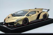 1/18 MR Lamborghini Veneno Oro Elios (Matt Gold) #01Free Shipping/ BBR Frontiart