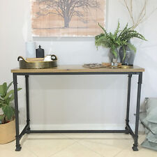*Ex Display* Industrial Style Timber Top Console/Hall Table/Shelf/Farmhouse