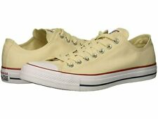 New CONVERSE All Star Size 17 Natural Ivory Canvas Low Top Sneakers RETAIL $50