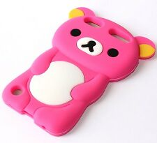 For iPod Touch 5th / 6th Gen - Soft Silicone Rubber Case Cover Cute Teddy Bear