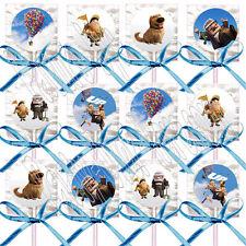 Disney Pixar UP Movie Fredricksen Russel Lollipops w/ Blue Bows Favors -12 pcs