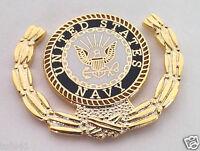 US NAVY LOGO WITH WREATH Military Veteran Hat Pin 15777 HO
