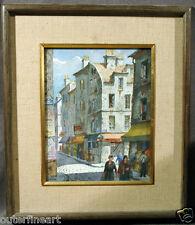 20th Century Paris Street Scene Watercolor singed Henry Martin Gasser (AMERICAN)