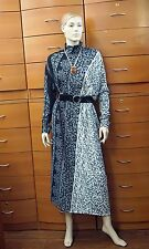 DRESS STRETCH THUMB LONG SLEEVES BELTED PRINTED ASYMMETRIC MADE IN EUROPE 12 L