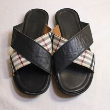 Burberry Criss Cross Slides Sandals Men's Shoes Sz 45 US 12