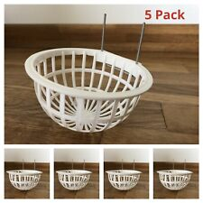 5 x CANARY NEST PANS PLASTIC for NESTING CAGE CANARIES & BIRDS