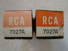 NOS NIB RCA 7027A Vacuum Tubes Matched Pair Same Date Codes
