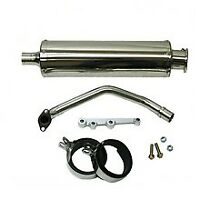 GY6125/150cc RACING CHROME STAINLESS STEEL EXHAUST SRP