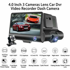 "1080P 4""Dual Lens Car Front&Rear DVR Dash Cam Video G-sensor Recorder Camera"