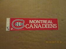 NHL Montreal Canadiens Vintage Circa 1980's Logo Hockey Bumper Sticker