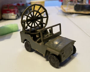 1960's Plastic Army Jeep Made In Hong Kong