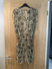 All Saints Corona Dress Animal Print 100% Silk Size UK 10 New With Tags