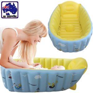 Inflatable Baby Tub Travel Baths Showers Soft PVC Newborn Infant BIBA48603