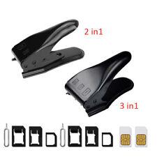 2 IN 1 & 3 IN 1 Micro SIM Card Cutter For iPhone X 8 7 6 6S Plus 5S 5 5C SE  Sam