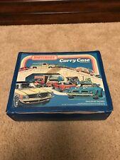 1978 Matchbox Carry Case 10 Lesney Cars Hot Wheels