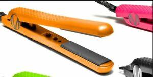 "Mica Beauty Cosmetics Orange 100% Ceramic 1.25"" ProStyler Hair Flat Straightener"