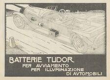 Z1691 Batterie TUDOR - Illustrazione - Pubblicità d'epoca - 1922 Old advertising