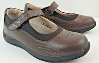 Drew Mary Jane Brown Leather  Women size 8 M Comfort Walking Shoes Excellent