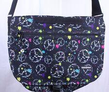 Yak Pak Paint Spatter Peace Sign Deluxe Messenger Bookbag Travel Shoulder Bag