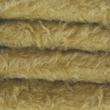 "1/4 yd 325S/C Buckwheat INTERCAL 5/8"" Semi-Sparse Curly German Mohair Fur Fabric"