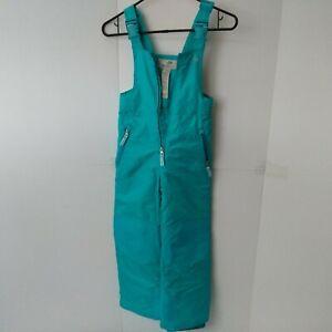 CHAMPION Children's Bib Snow Pants Insulated Aqua Blue Girls Size S (6)