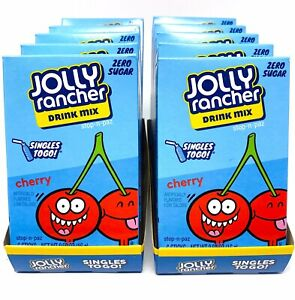 Jolly Rancher Cherry Singles To Go Drink Mix Sugar Free 10 Boxes (60 Packets)