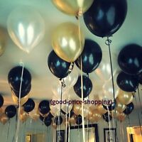 "10"" Black Gold White Pearl Balloons Party Decor New Year Eve Baloons Graduation"