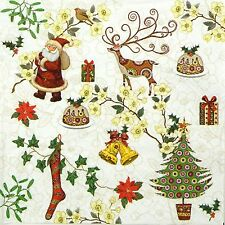 4x Paper Napkins for Decoupage Decopatch Craft Christmas Signs
