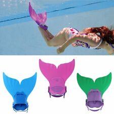 Bambini Bambine Sirena Nuoto Flippers Coda Monopinna Formazione Mermaid Pinna
