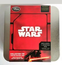 STAR WARS The Force Awakens Pin Collector Tin Limited to 1000 disney store