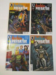 ARCHIE VS PREDATOR #1-4 Full Run Set #1 & 3 Variants Dark Horse Comics HI GRADE