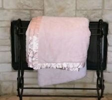 simply shabby chic pink 2-ply plush cozy blanket twin