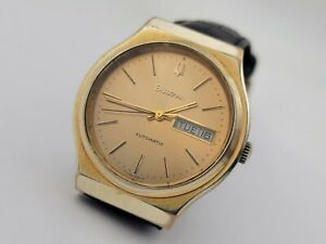 Vintage Swiss BULOVA 10226-1 Gold Plated Automatic Day/Date Cal 1133.10 - 37 mm