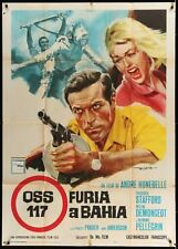 OSS 117 FURIA A BAHIA MISSION FOR A KILLER Italian 2F movie poster 39x55 1965