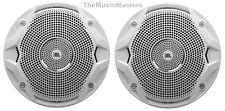 "2X JBL Boat Marine Audio White 6.5"" inch Dual Cone Stereo Speakers 6-1/2"" MS6510"
