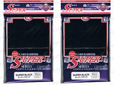 160 KMC Black Super Series Sleeves Deck Protectors MTG Pokemon [2x80ct]