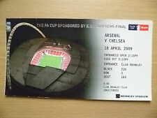 Tickets Stubs: 2009 FA Cup SEMI FINAL- ARSENAL v CHELSEA, 18 April