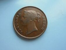 Straits Settlement, One Cent 1845, Victoria, Good Condition.