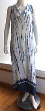 NWT XCVI Light Long Tie Dye Flowing Dress - Cowl Neck -Blue & White - Large