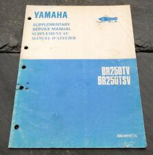 1995 Yamaha BR250TV BR250TSV Snowmobile Supplementary Service Manual